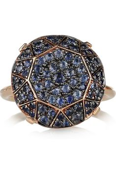 Ileana Makri Rose gold and blue pave sapphire ring4 - this is EXACTLY what I had in mind.