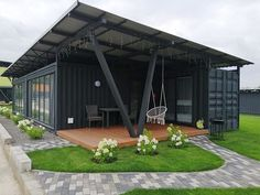 Building A Container Home, Container Buildings, Container Architecture, Architecture Plan, Sustainable Architecture, Shipping Container Home Designs, Container House Design, Small House Design, Container Cabin