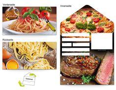 Motiv Pasta und Fleisch - Gutscheinvorlagen