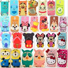 3D Cartoon Silicone Cover Case For Samsung Galaxy Note2/3/S3/S4 i9500/S5 i9600 #UnbrandedGeneric