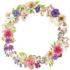 Картинки с цветочными веночками