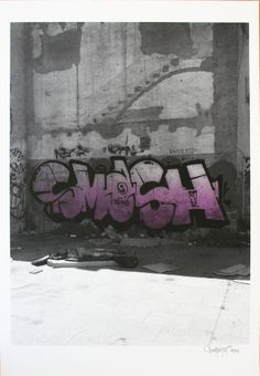 Smash 137. Siesta Violet, Siebdruck, signiert, nummeriert  http://shop.prettyportal.de/collections/frontpage/products/smash-137-siesta-violet