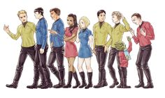 Star Trek crew by Fem on Pixiv