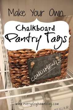 Chalkboard Tags {make your own for pennies} by The Everyday Home