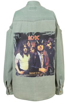 Top Shop ACDC SHIRT BY AND FINALLY