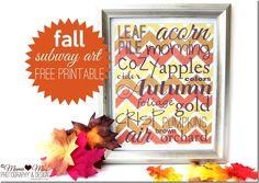 Fall Subway Art free printable {mama♥miss} ©2012