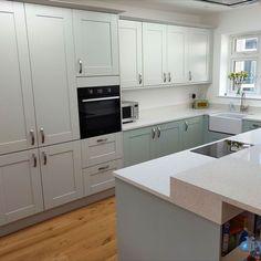 An Innova Linwood Dove Grey Shaker Kitchen