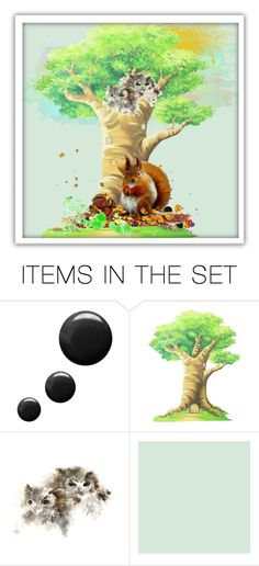 """""""Squirrel sings songs and nuts all nibbles (From fairy tales by A. Pushkin)"""" by m-kints ❤ liked on Polyvore featuring art and New"""