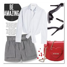 Untitled #1058 by samha on Polyvore featuring polyvore fashion style Maje MANGO Love Moschino clothing
