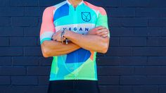 VA001 Mens Short Sleeve Cycling Jersey