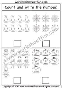 Halloween- Number Counting 1-10 –  One Worksheet