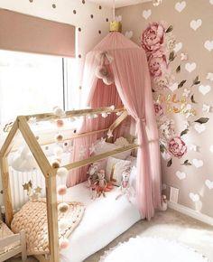 Girls Room Design, Girl Bedroom Designs, Bedroom Ideas, Big Girl Bedrooms, Little Girl Rooms, Toddler Rooms, Baby Room Decor, Dire, Kids Canopy