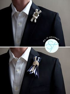 DIY Nautical Rope Boutonniere via Something Turquoise Nautical Wedding Inspiration, Nautical Wedding Theme, Nautical Party, Seaside Wedding, Wedding Themes, Diy Wedding, Dream Wedding, Wedding Ideas, Wedding Stuff