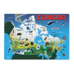 Map of Canada for Kids - Puzzle by Melissa and Doug | Fun Maps For Kids