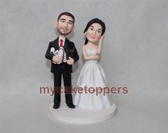 Check out this item in my Etsy shop https://www.etsy.com/listing/208958030/custom-wedding-cake-toppers-figurine