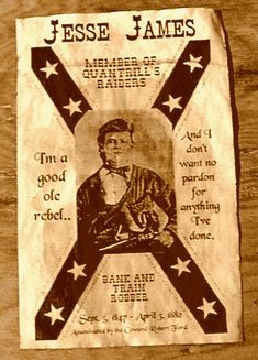 Wanted poster Jesse James