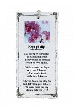 Krya på dig - Diktkort Bff Gifts, Meaning Of Life, Love You, My Love, Wise Quotes, I Am Happy, Verser, Wise Words, Quotations