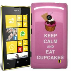 Accessory Master Coque pour Nokia Lumia 520 Motif Keep Calm and Eat Cup Cakes Rose: Amazon.fr: High-tech
