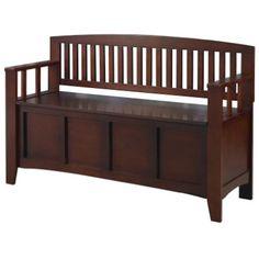 Linon Home Decor Cynthia Storage Bench Seating Chair Flip-top lid New, Walnut #LinonHomeDcor