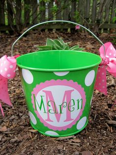 Personalized Easter Bucket! Adorable!!