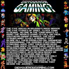 The Legend of Zelda: Majoras Mask. I encourage people to read the full article, for no other reason than its a very interesting read.