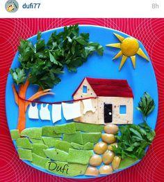 ✔ Healthy Snacks For Kids Animals Healthy Dinners For Kids, Healthy Kids, Kids Meals, Dinner Recipes For Kids, Veggie Art, Food Art For Kids, Creative Food Art, Food Garnishes, Food Decoration