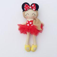 Minnie doll cloth doll fabric doll by LittleSunshineShop11