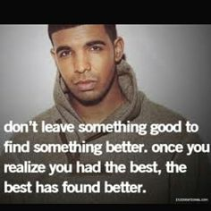 Don't give up on the best