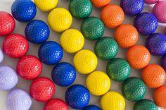 Colorful Golf Balls