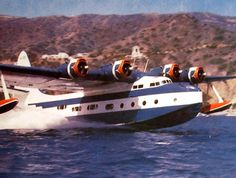 """Henry's dad's plane - """"Excalibur"""" VS-44 Sikorsky flying boat. Known at Catalina Island as the """"Mother Goose"""""""