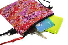 mini pochette de soirée - la minimaliste - en tissu japonais fleurs de cerisiers…