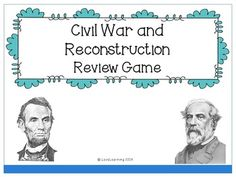 *FREEBIE* This is a Jeopardy Review game that covers the Civil War and Reconstruction era of U.S. History.