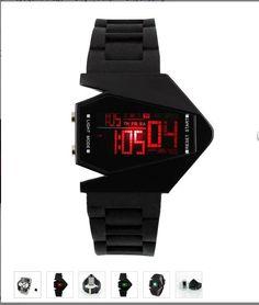 Sportowy zegarek męski LED Chronograf Multifunkcyny kolorowy