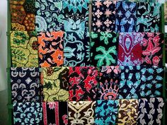 Traditional tie dye batik painting, from Central Java, Indonesia.