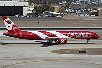"America West Airlines, Boeing 757-2G7, Phoenix - Sky Harbor International, Arizona, March 10, 2006, N908AW, ""Arizona Cardinals"" color scheme, Nicholas Vollaro"