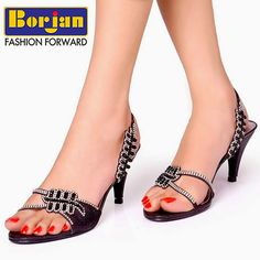 b81e80405 Feel glamorous while stepping out into Borjan heeled sandals!