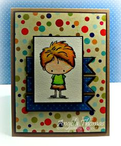 """Card using an image from the Stamping Bella set """"Arthur and Annie"""""""