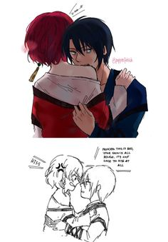 Akatsuki no Yona / Yona of the Dawn anime and manga || Hak and Yona <3 XD