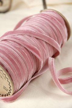 yards of Austrian victorian rose pink velvet ribbon.with yards of Austrian victorian rose pink velvet ribbon Dusty Rose, Dusty Pink, Blush Pink, Mauve, Pretty In Pink, Pink Love, Velvet Ribbon, Pink Velvet, Tout Rose