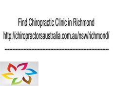 Have the most capable Chiropractor in Richmond here- https://www.facebook.com/ChiropractorsAustralia/photos/a.1643491919216324.1073741828.1642423902656459/1657686617796854/?type=1&theater