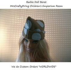 Beret Barbie Doll Clothes by MrsCraftyRVing on Etsy, $1.75