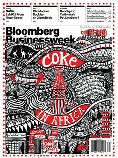 Coke In Africa l Bloomberg Business Week Magazine Design, Graphic Design Magazine, Magazine Layouts, David Carson Design, Web Design, Design Art, Book Design, Layout Design, Print Design