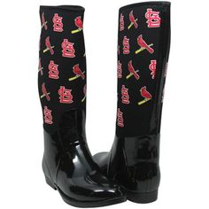 Cuce Shoes St. Louis Cardinals Womens Enthusiast II Rain Boots - Black