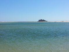Playa de lagoa en las  Dunas de Corrubedo. Ribeira.
