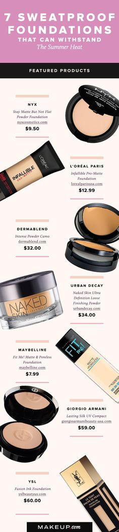 The hot summer months mean sky-high temperatures and makeup that basically melts. We'll tell you which sweatproof foundations you should add to your makeup bag this summer.