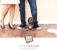 Including the dog in an engagement session  |  photo by @Sara Kauss