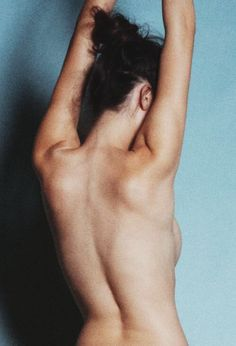this woman is portrayed as being very camera shy because she isn't showing any part of her body except her back whereas my other photo there are girls that are very photogenic
