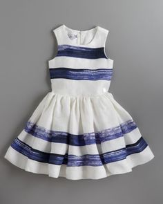 Marveilleuses Striped Dress, Sizes 2-8 by Baby Dior at Bergdorf Goodman.