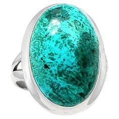 Malachite In Azurite 925 Sterling Silver Ring Jewelry s.7.5 MIAR66