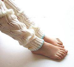 Girls Knitted Leg Warmers Leg Warmers Boot Socks by knitwit321
